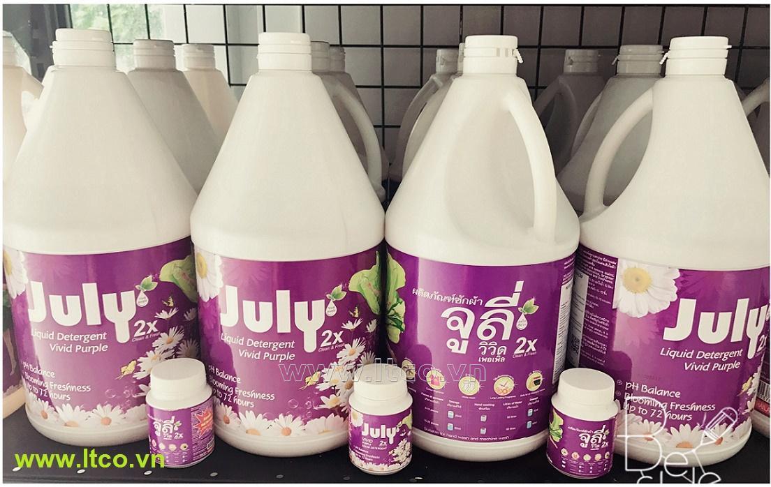 Nước giặt xả July 2X Vivid Purple - 3500ml Tím