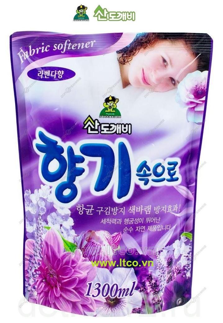 Nước xả mềm vải Sandokkaebi 1300ml - Lavender