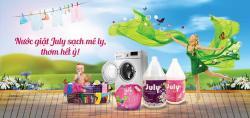 Nước giặt xả July 2X Sweet Pink - 3500ml Hồng_2