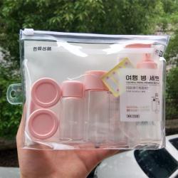 Bộ chiết mỹ phẩm du lịch Beiyin 6 món - Màu hồng_A