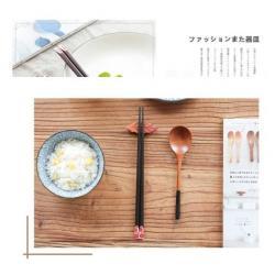 Set 10 đôi đũa gỗ mun Nhật Bản - Hộp đỏ_2