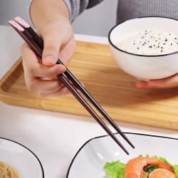 Set 10 đôi đũa mun gỗ Nhật Bản - Hộp đen_4
