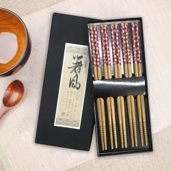 Set 5 đôi đũa tre Nhật Bản_6