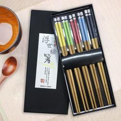 Set 5 đôi đũa tre Nhật Bản_8