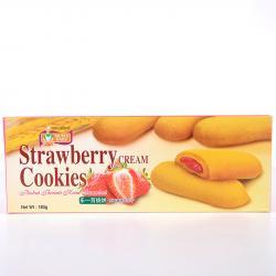 Strawberry Cream Cookies - Mum's Bake - Bánh quy nhân kem dâu 180g_A