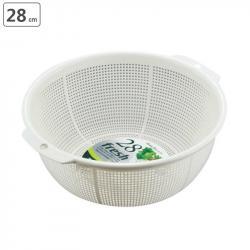 Rổ nhựa tròn Fresh φ28cm - Màu trắng_A