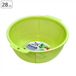 Rổ nhựa tròn Fresh φ28cm - Màu xanh_A