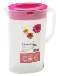 Bình nước 2 lít - Nắp màu hồng_A