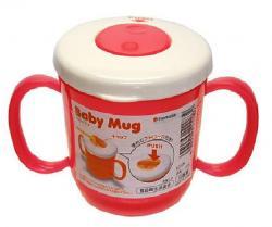 Bình nước tập uống có vòi cho bé 230ml - Màu hồng_A
