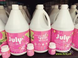 Nước giặt xả July 2X Sweet Pink - 3500ml Hồng_A